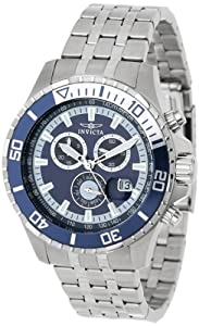 Invicta Men's 13649 Pro Diver Chronograph Navy Blue Dial Stainless Steel Watch