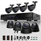 ELEC® New 8Ch Channel 960H HDMI H.264 DVR Security System CCTV Internet & 3G Phone Accessible with 8 600TVL Bullet Night Vision Cameras ELEC-CVK-1008C1 (No Hard Drive)