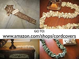 9 ft decorative fabric cord cover hand made in the usa unique decorative items. Black Bedroom Furniture Sets. Home Design Ideas