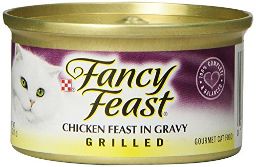 Fancy Feast Gourmet Cat Food, Grilled Chicken Feast in Gravy, Grilled 3-Ounce Cans (Pack of 24)