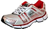 Pro (from Khadims) Men's Silver:Red Synthetic Sports Sneakers - 6