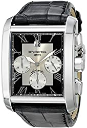 Raymond Weil Men's Don Giovanni Cosi Grande Stainless Steel Watch with Crocodile Pattern Leather Strap