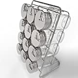 Royal Spice Rack with 12 Glass Jars - Premium Spice Organizer with 2.7 ounce Jars and Stainless Steel Rotating Lids - Suitable for all Seasoning and Spices