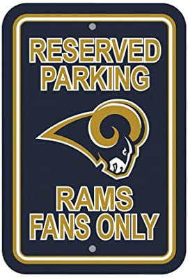 Bsi Products Bsi NFL St. Louis Rams Reserved Parking Sign