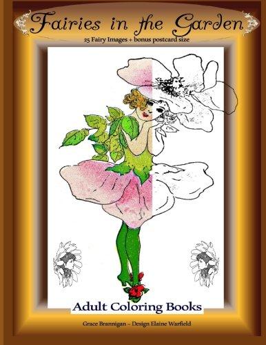 Fairies in the Garden: 25 Fairy Images Plus Bonus Postcard Size: Adult Coloring Books (Volume 8)