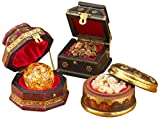 Three Kings Gifts The Original Gifts of Christmas Gold, Frankincense and Myrrh Deluxe Box, Set of 3