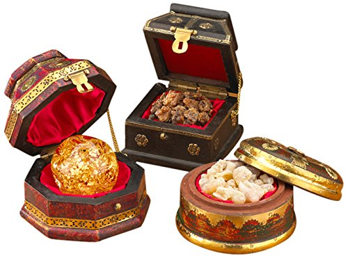Three Kings Gifts Christmas Gold, Frankincense and Myrrh Deluxe Box, Set of 3