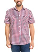 BIG STAR Camisa Hombre Balavin_Shirt_Ss (Rojo / Blanco)