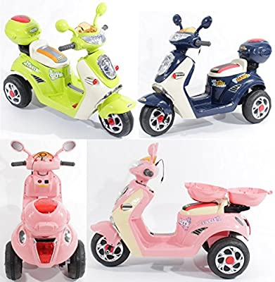 Charles Jacobs Ride on Kids Motorcycle Electric Scooter Motorbike 6V Battery Operated Toy Bike