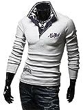 (ベクー)Bekoo メンズ ニューヨーク 長袖 ポロシャツ おしゃれ シンプル デザイン カジュアル キレイメ インナー など カラー ブラック ホワイト グレー サイズ M L XL XXL (28 グレー XXL)