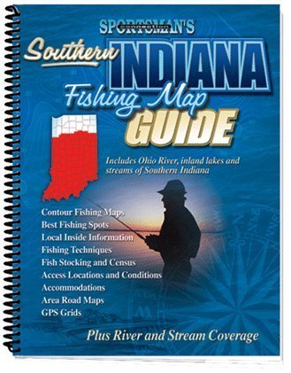 Indiana Fishing Map Guide for Non-Eastern (Fishing Maps from Sportsman's Connection)