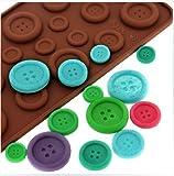 Luxbon Fastener Shape Candy/Ice/Cake/Chocolate/Sugar Craft Fondant Mold/Tray Silicone Decorating Tools Randomly Color