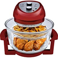 Big Boss 9063 1300-Watt Oil-Less Fryer 16-Quart (Red)