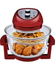 Big Boss 9063 1300-watt Oil-Less Fryer, 16-Quart, Red by Big Boss