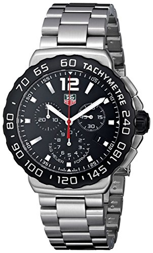 TAG Heuer Men's CAU1110.BA0858 Formula 1 Black Dial Chronograph Steel Watch image