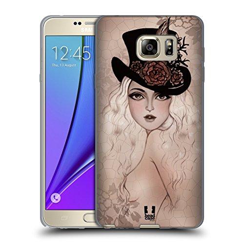 Head Case Designs Marie Cappellini E Nastrini Carini Cover Morbida In Gel Per Samsung Galaxy Note5 / Note 5
