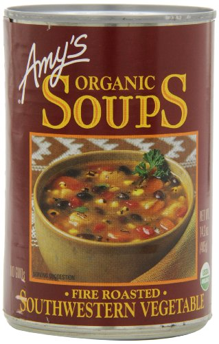 Amy's Organic Fire Roasted Southwest Vegetable Soup,14.3-Ounce Cans (Pack of 12) (Organic Green Chili Sauce compare prices)