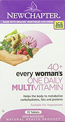 New Chapter Every Woman's One Daily 40-Plus Multi-Vitamin Tablet, 72-Count