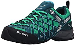 Salewa Women\'s Wildfire S GTX Technical Approach Shoe, Cypress/River Blue, 7 M US