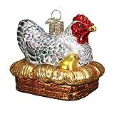 Old World Christmas Hen On Nest Glass Blown Ornament