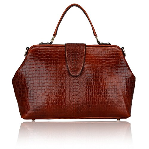 Pijushi-Classic-Crocodile-Leather-Satchel-Top-Handle-Handbags-6658