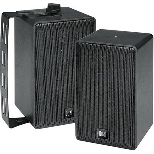 Dual LU40PB 3-Way 4-Inch Indoor/Outdoor Satellite Speakers,