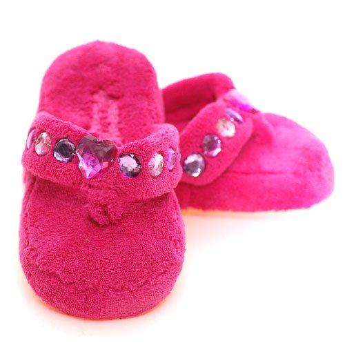 Buy Low Price Three Cheers Girls Fuchsia Fuzzy Heart Slippers Flip Flops Girl 5/6 (B00369Q9K2)