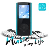 G.G.Martinsen Crystal-faceted 8 GB Multi-lingual Selection 1.8 LCD Portable Mp3/Mp4, Video Player, Music Player, Media Player, Video Player, Audio Player with a Slot for a micro SD card-Blue