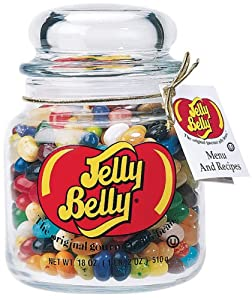 Jelly Belly 49 Assorted Flavors Glass Apothecary Jar