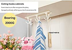 Kitchen Ceiling Cabinet Storage Rack Bearing 2kg (White)