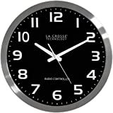 La Crosse Technology WT-3161BK 16-Inch Stainless Steel Atomic Clock