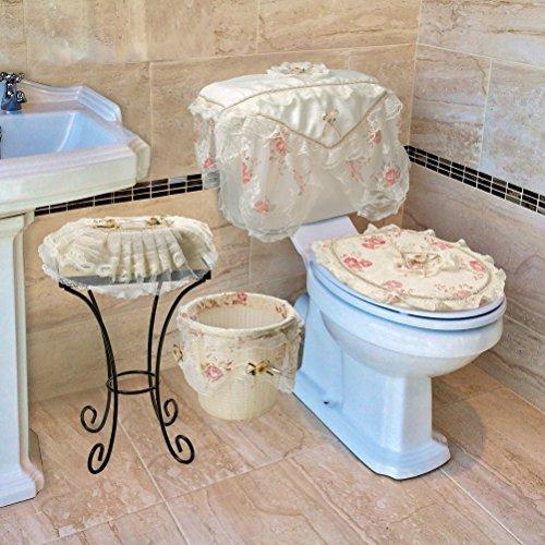 Luxurious and elegant eden lace style bathroom waste for Beige bathroom bin