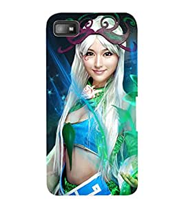 ColourCraft Cute Girl Design Back Case Cover for BLACKBERRY Z10
