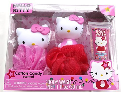 Hello Kitty Tub Time Friends 3 Pcs Bath Gift Set - Cotton Candy Scented - 1
