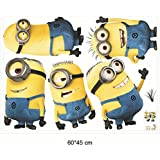 Minions Movie Wall Stickers For Kids Room Home Decorations