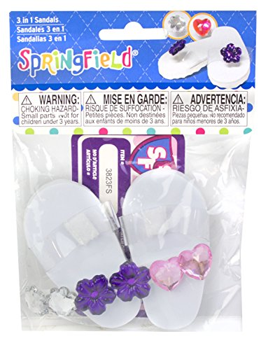 Springfield Collection by Fibre-Craft - Three In One Sandals - Fits All 18-Inch Dolls - Mix and Match - For Ages 4 and Up