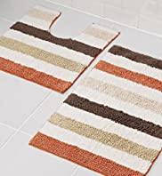 Earth Stripe Bath & Pedestal Mats
