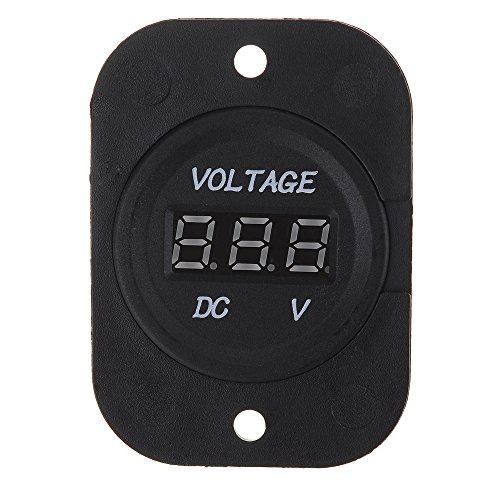 Victsing Waterproof 12V-24V Car Motorcycle Led Dc Digital Display Voltmeter