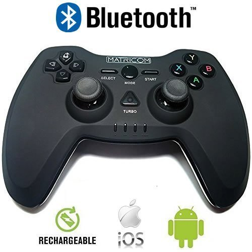 Matricom G-Pad BX Wireless USB Rechargeable Bluetooth Pro Game Pad Joystick (Samsung Gear VR and G-Box Compatible!) (Amazon Fire Game Controller compare prices)