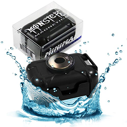 Monster Magnetics Waterproof Case for Under Vehicle GPS Tracking, Geocache Container, Smell Proof Stash Box - Powerful Neodymium Rare Earth Magnet Mount Best With Tracker, Hide Key, Money, or Jewelry (Warehouse Deals Smoker compare prices)
