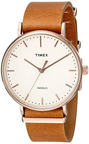 timex-unisex-tw2p91200-fairfield-41-brown-leather-slip-thru-strap-watch