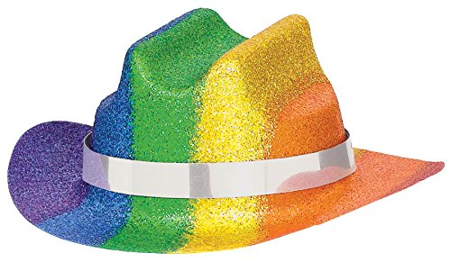Rainbow Mini Glitter Cowboy Hat