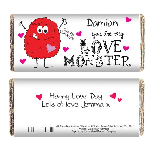 Personalised Love Monster Chocolate Bar Great
