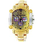 Aqua Master Yg Face 22 Diamonds Stainless Steel Band Watch Yellow Gold Tine Case