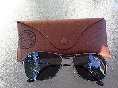New Ray Ban Aviator RB3025 001/3R Gold/Sky Blue 58mm polarized Sunglasses