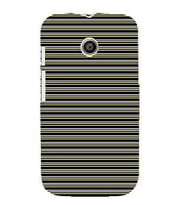 EPICCASE colored lines Mobile Back Case Cover For Moto E (Designer Case)