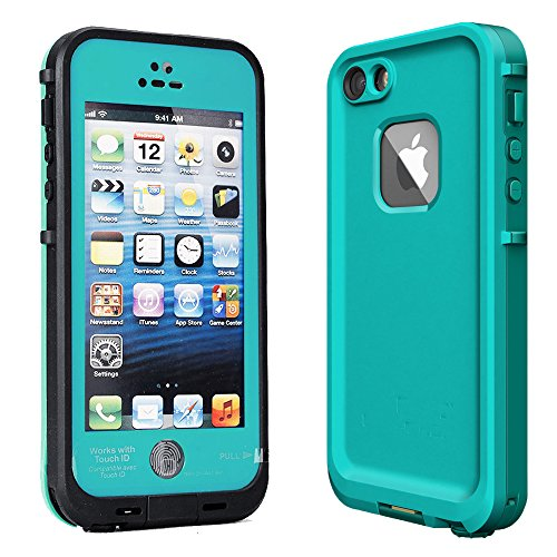 Kecko iPhone 5s//SE Protective Slim iPhone Cases Rugged Waterproof Shockproof Snowproof Dirtpoof Protection Case Cover with Fingerprint ID for Apple iPhone 5s/SE (Grass Blue) (Jack Frost Iphone 5s Case compare prices)