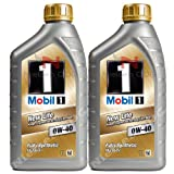 Mobil 1 0w-40 New Life Fully Synthetic Engine Oil MOB-142408-2 - 2x1L = 2L