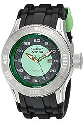 Invicta Men's 11939 Pro Diver Green and Black Dial Black Polyurethane Watch