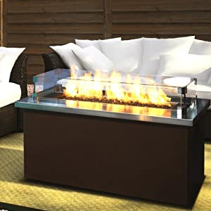 Firegear Key West Natural Gas Fire Pit Coffee Table With Stainless Steel Top Patio